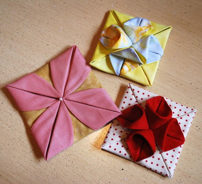 Origami fabric flowers the pipers girls origami mightylinksfo