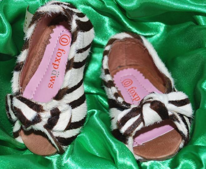 Zebra Peep Toe