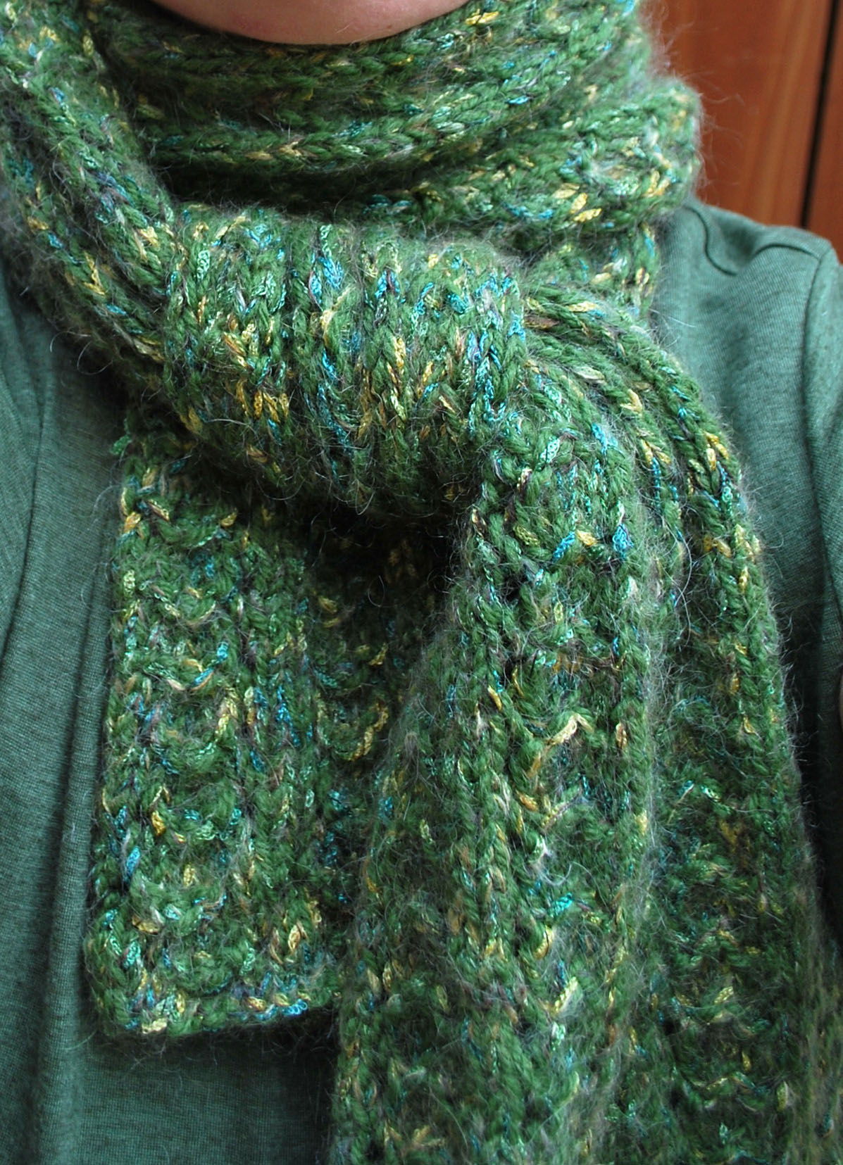 Free Knitting Scarf Patterns For Beginners : Peacock Scarf Pattern The Pipers Girls