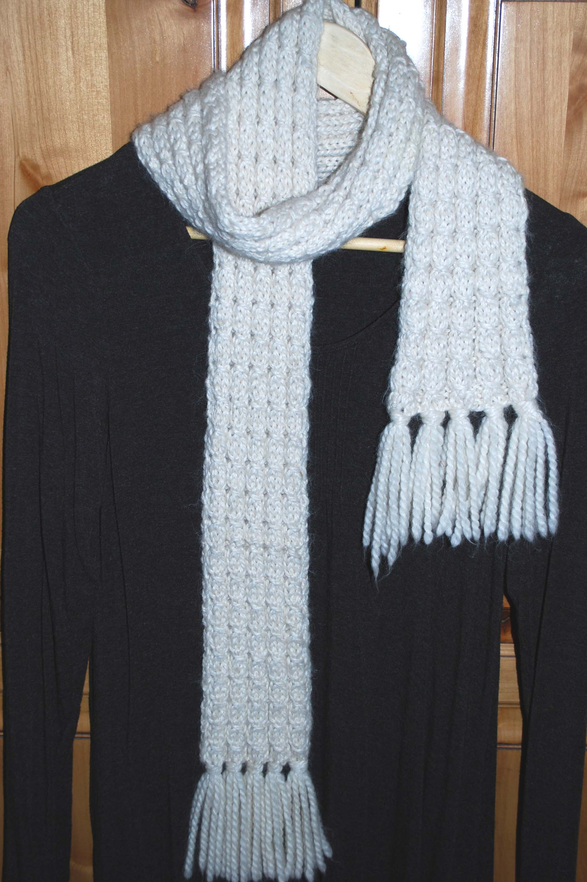 Mock Cable Scarf – The Piper\'s Girls