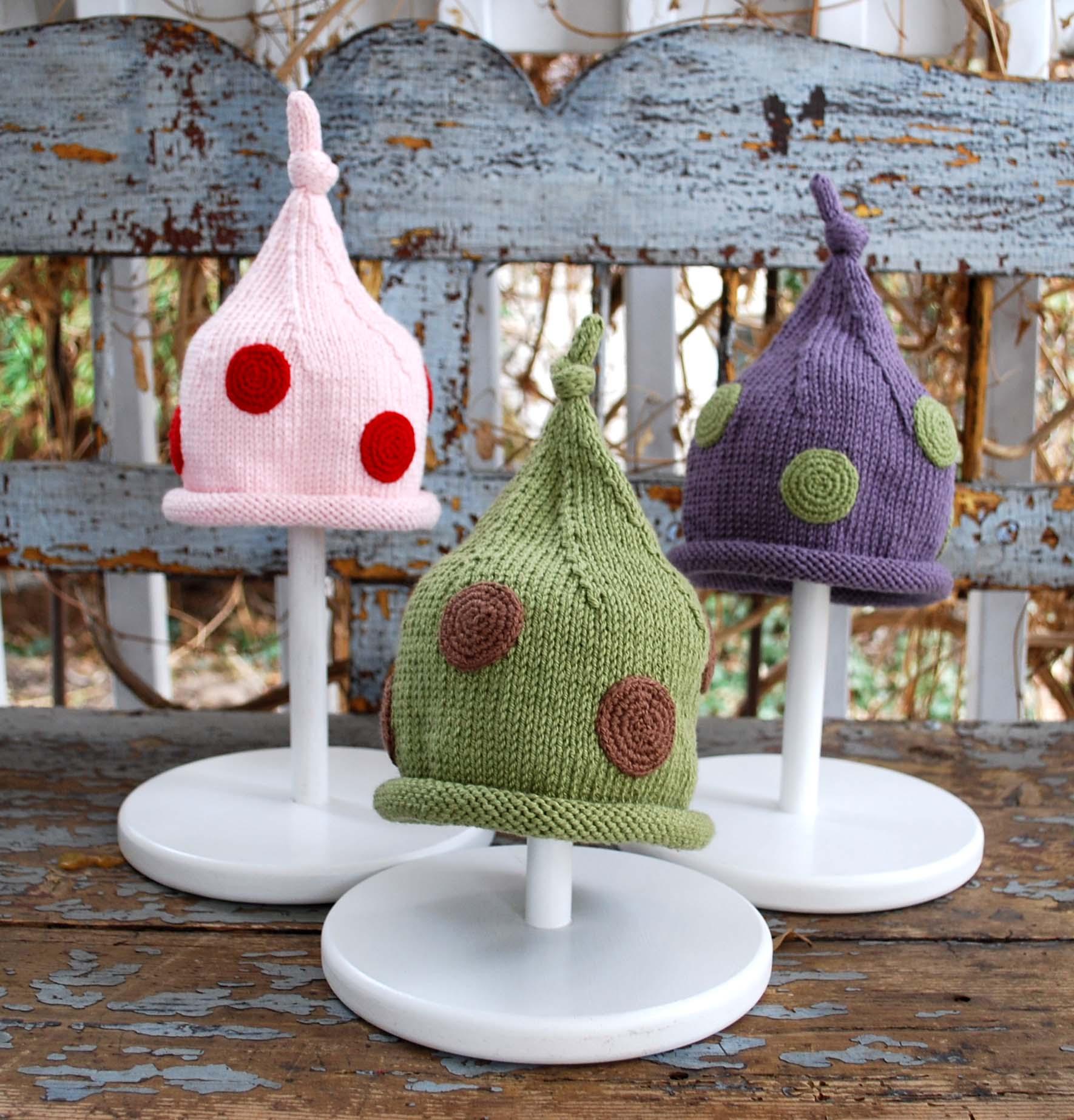 polka dot knit hat pattern – The Piper\'s Girls