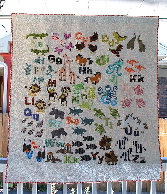 Britt's Animal Alphabet – The Piper's Girls : alphabet baby quilt pattern - Adamdwight.com
