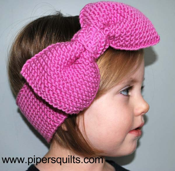 Simple Knit Headband Pattern : Free Knitted Headband With Bow Pattern