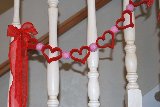 simple heartfelt garland