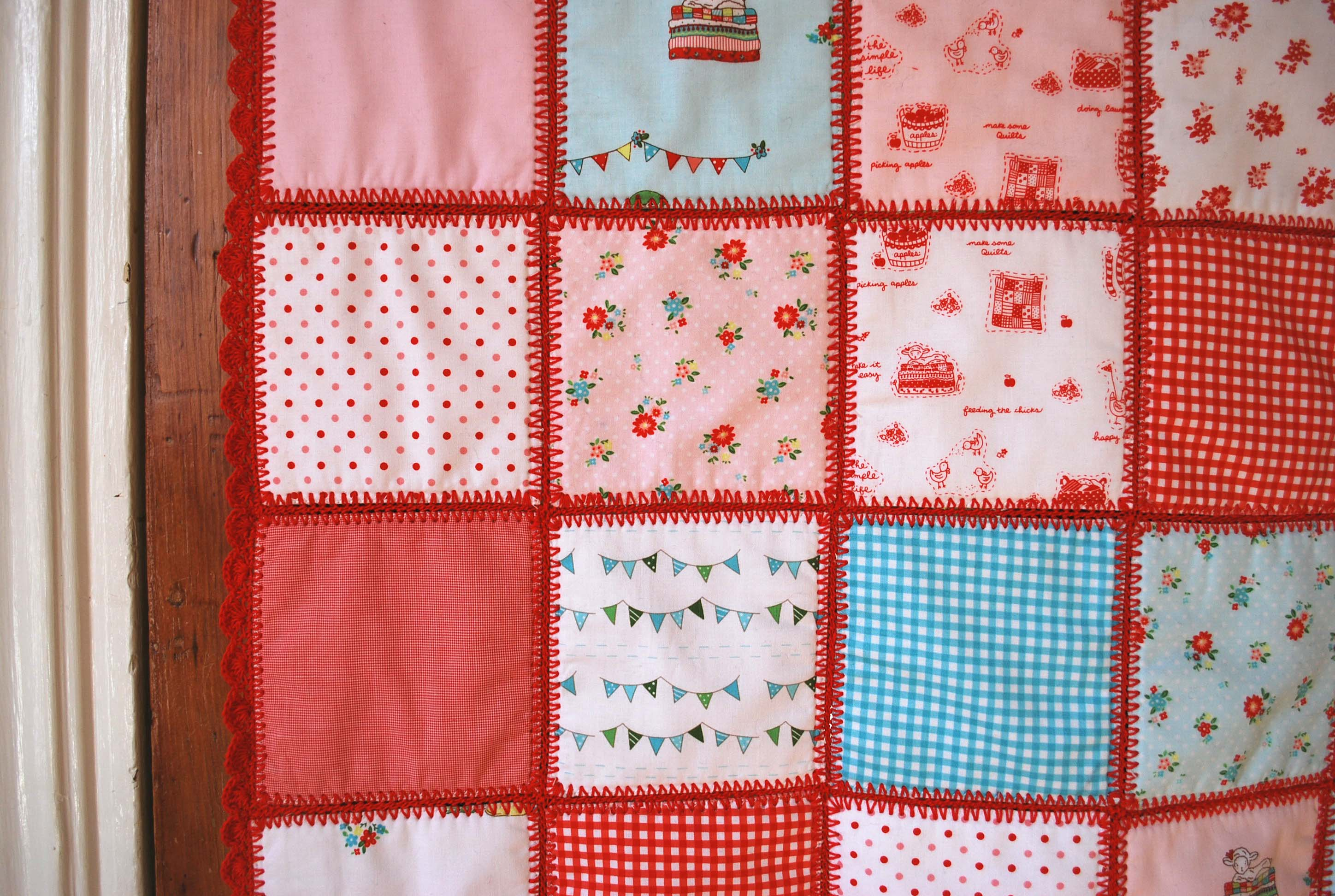 ... putting together more of our Crochet Baby Patchwork Quilt Kits