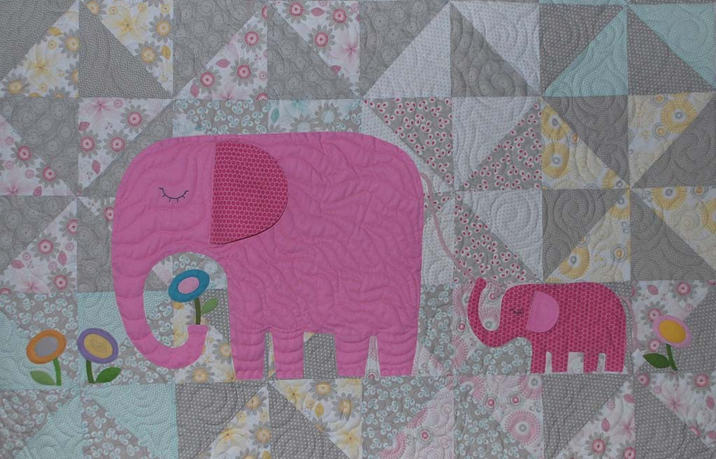 E is for Elephant – The Piper's Girls : elephant quilt patterns - Adamdwight.com