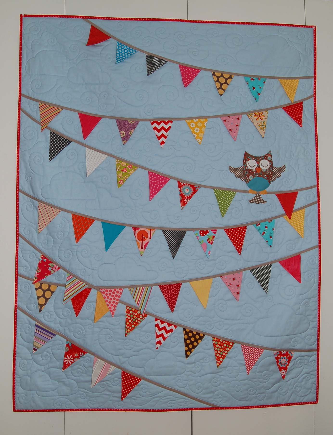 owl baby quilt kit – The Piper\'s Girls
