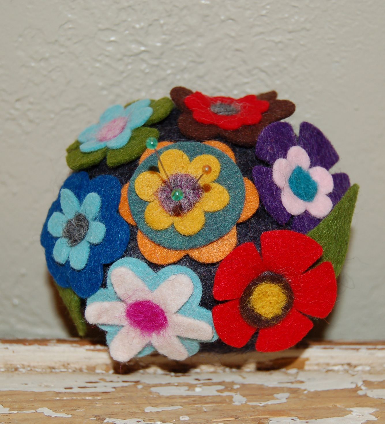 Felt Flower Pincushion