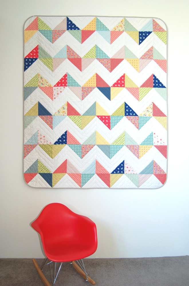 Sunny Chevron Free Quilt Pattern