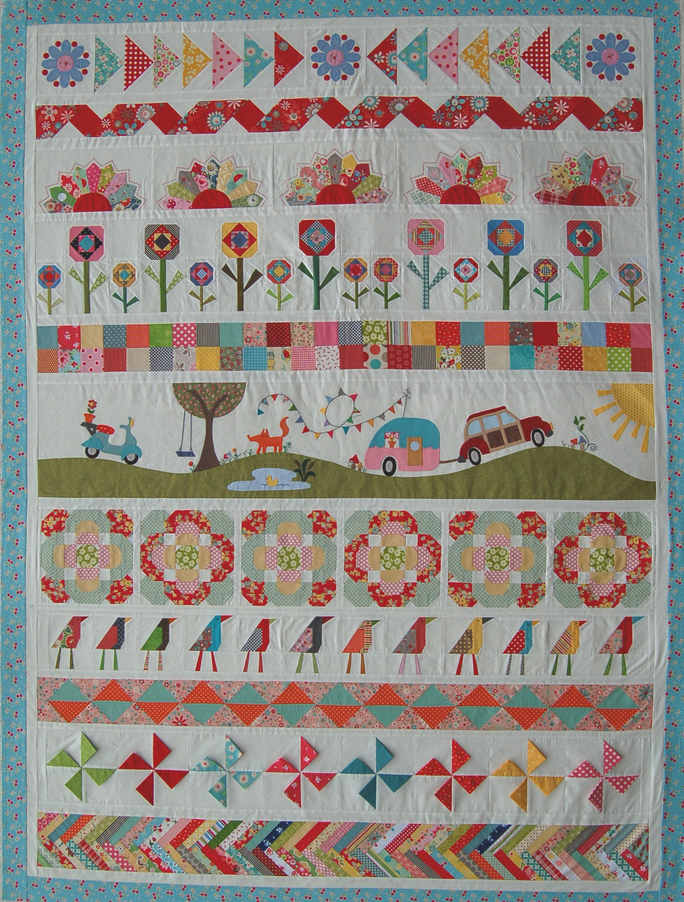 The Piper S Girls Row By Row Quilt