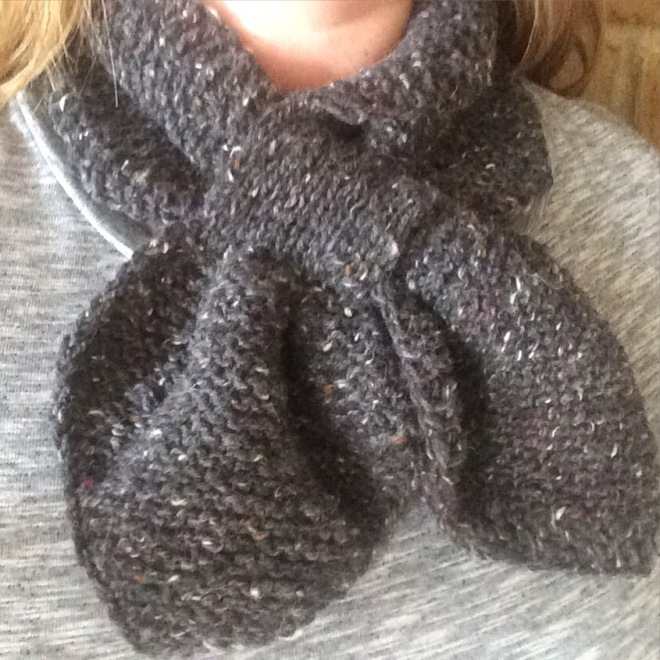 Girls Scarf Knitting Pattern : The Penny Scarf   The Pipers Girls